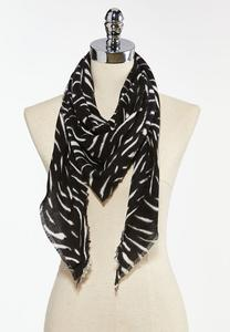 Abstract Print Triangle Scarf