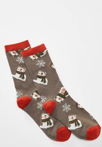 Polar Bear Snowflake Socks