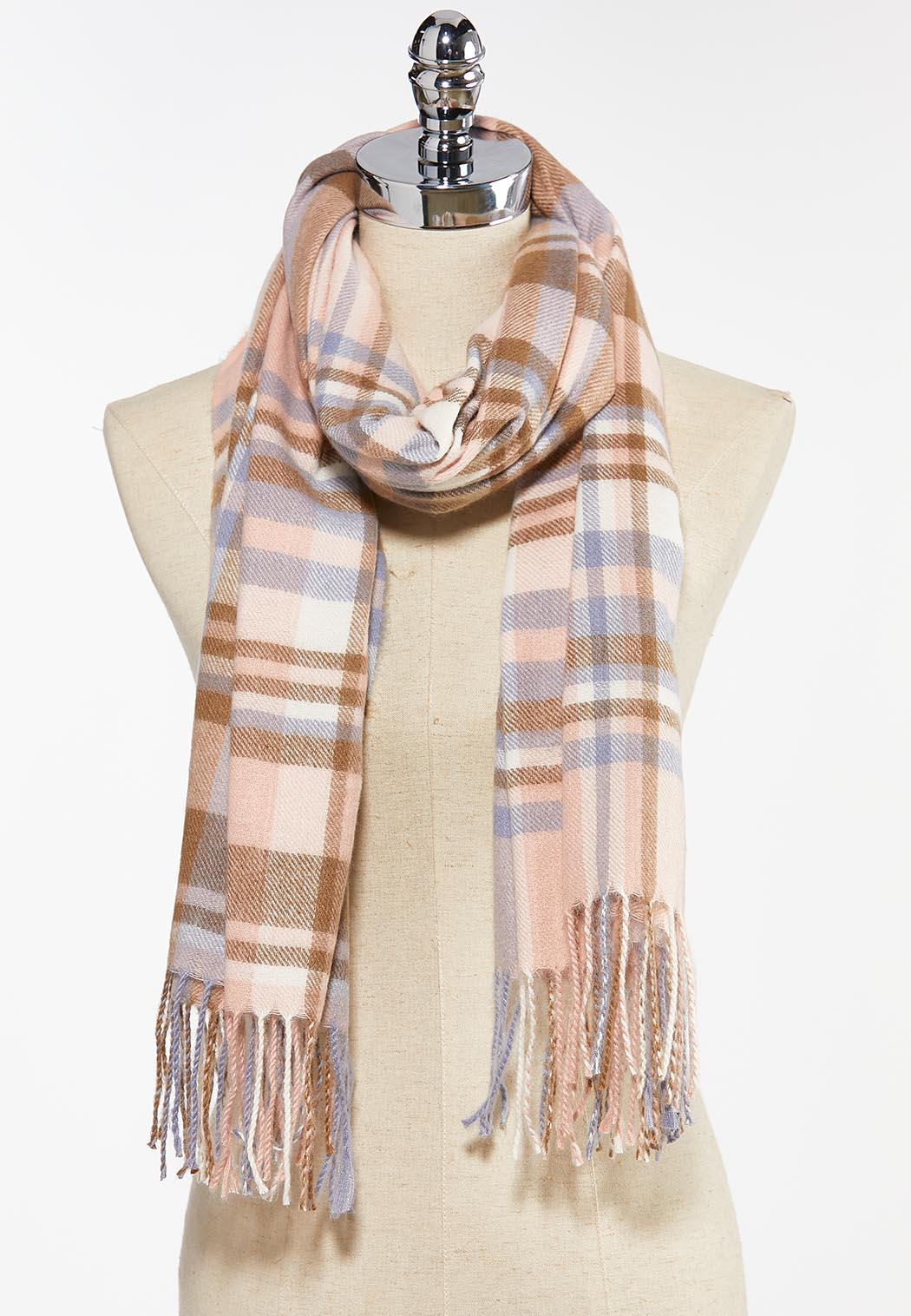 Pastel Plaid Cold Weather Scarf