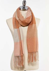 Plaid Fringe Cold Weather Scarf