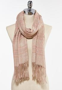 Soft Plaid Cold Weather Scarf