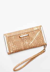 Gold Hardware Snakeskin Wallet