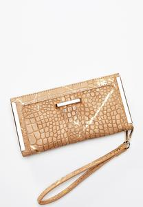 Gold Hardware Snakeskin Wallet