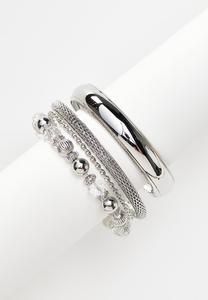 XL Chunky Bangle Bracelet Set
