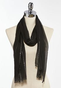 Sequin Thread Oblong Scarf