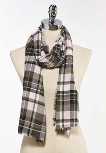 Pleasantly Plaid Oblong Scarf