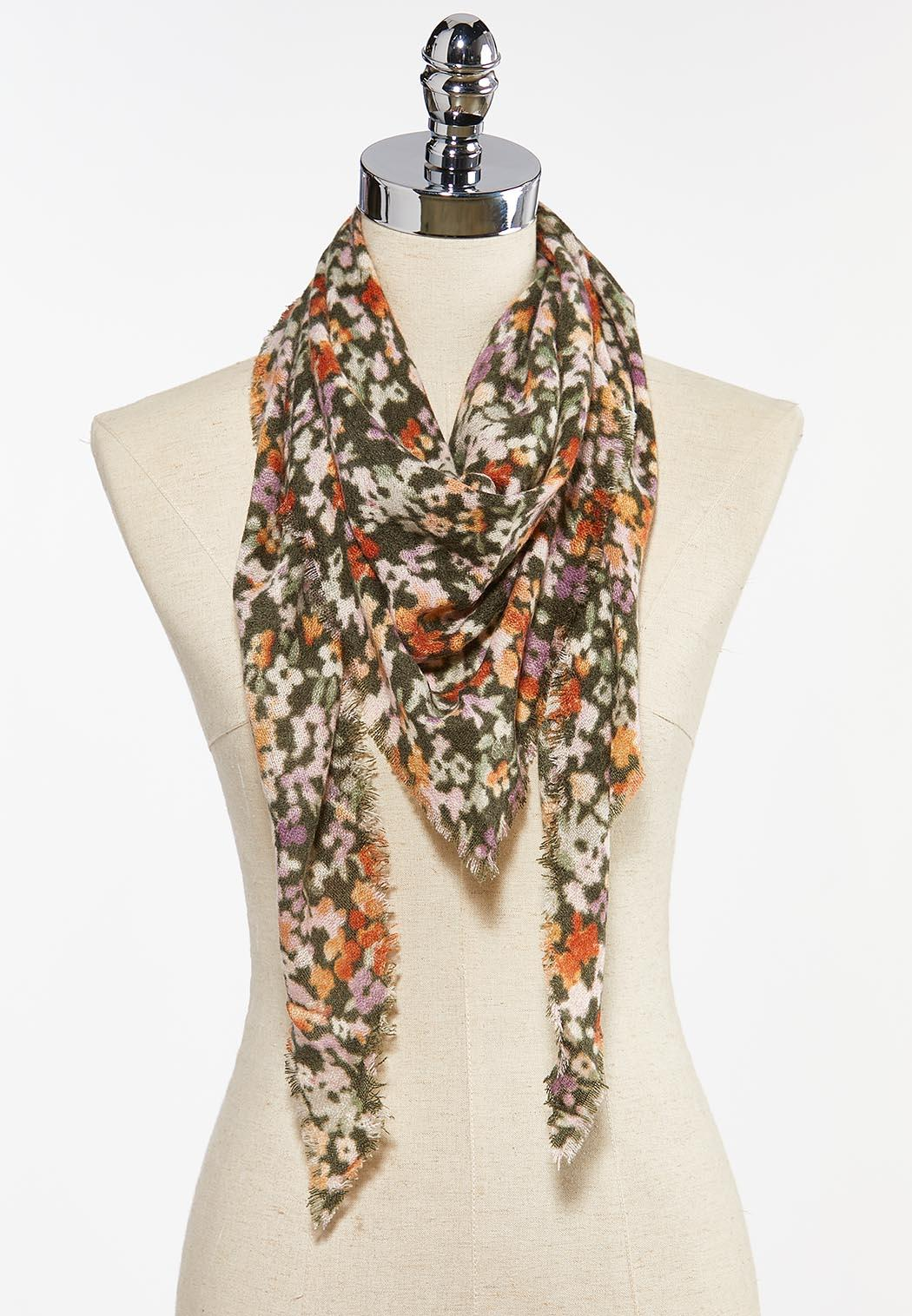 Floral Bloom Triangle Scarf
