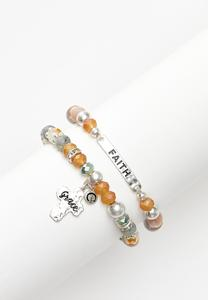 Inspirational Bead Bracelet Set