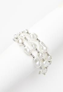 Freshwater Pearl Toggle Bracelet Set