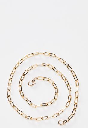 Gold Link Face Mask Chain