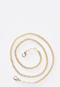 Pearl Embellished Face Mask Chain