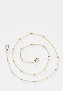 Gold Bead Face Mask Chain