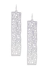 Thin Metal Filigree Earrings