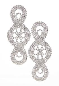 Glitzy Stone Statement Earrings