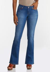 Petite Flare Mid-Rise Jeans