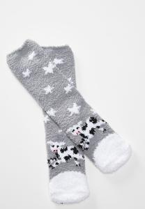 Sleepy Cow Cozy Socks