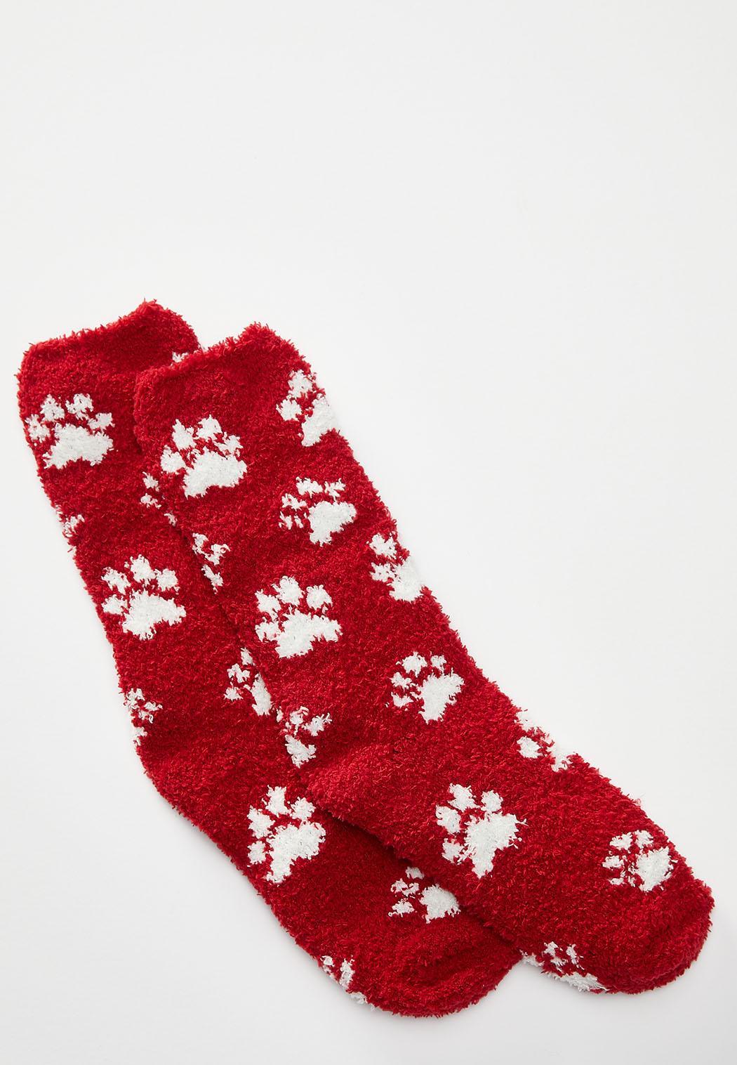 Paw Print Cozy Socks