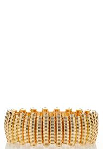 Gold Textured Stretch Bracelet