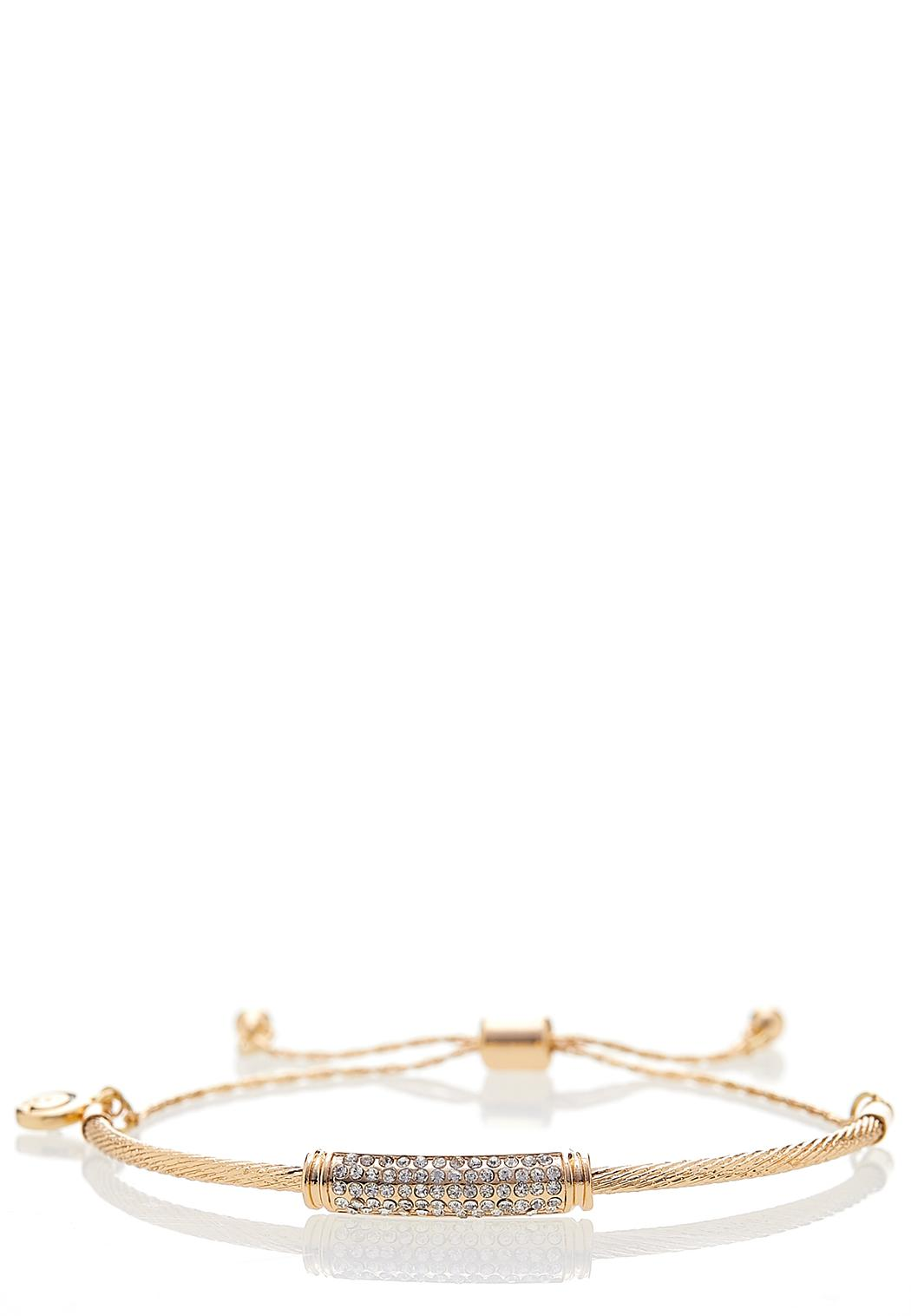 Delicate Stone Pull-String Bracelet