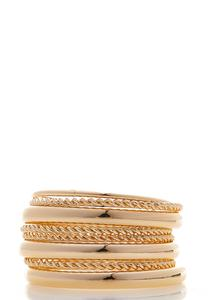 XL Textured Smooth Bangle Set
