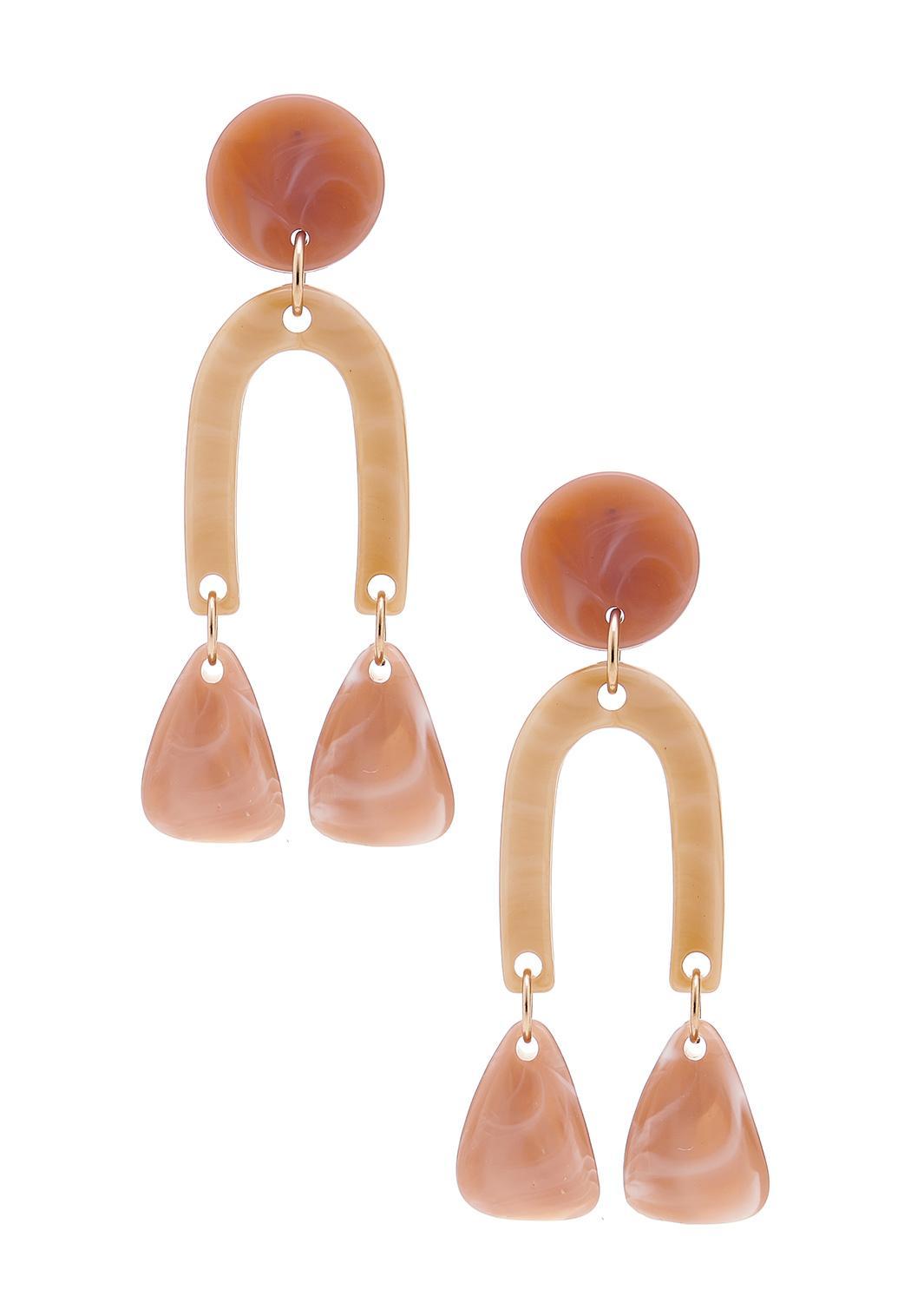 Lucite Horseshoe Dangle Earrings