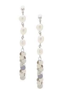 Sequin Pearl Linear Earrings