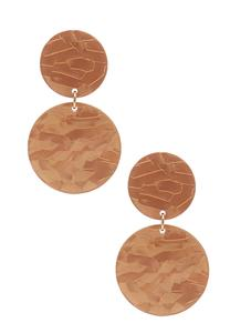 Tiered Lucite Circle Earrings