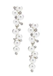 Alternating Pearl Stone Earrings