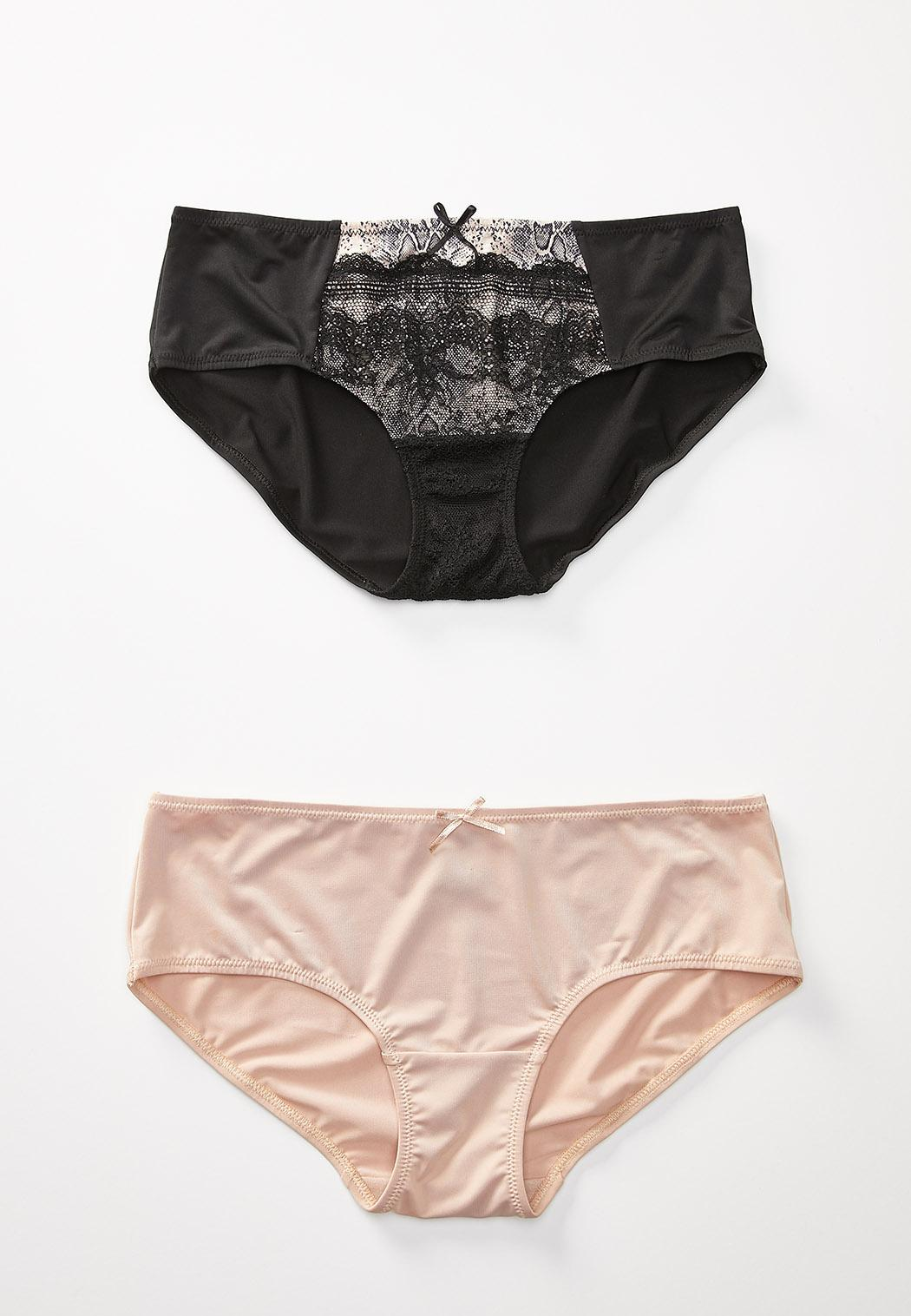 Plus Size Lacey Snakeskin Panty Set