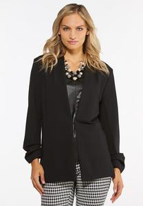 Plus Size Black Ponte Blazer