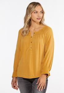 Plus Size Honey Smocked Top