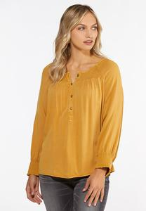 Plus Size Honey Smocked Top