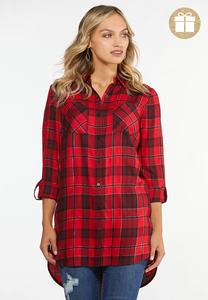 Twinkle Red Plaid Tunic