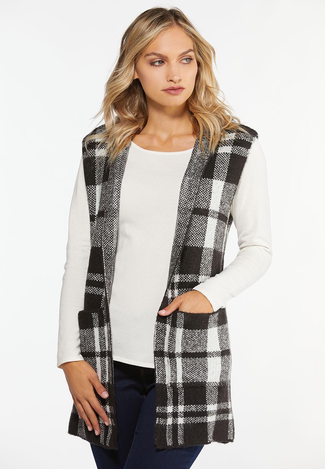 Plus Size Plaid Sweater Vest