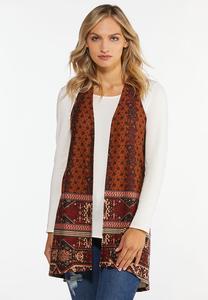 Plus Size Fall Tribal Hacci Vest