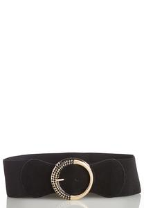 Plus Size Gold Ring Stretch Belt