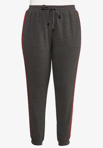 Plus Size Striped Joggers