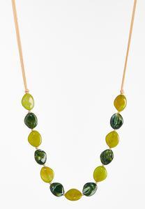 Acrylic Bead Cord Necklace