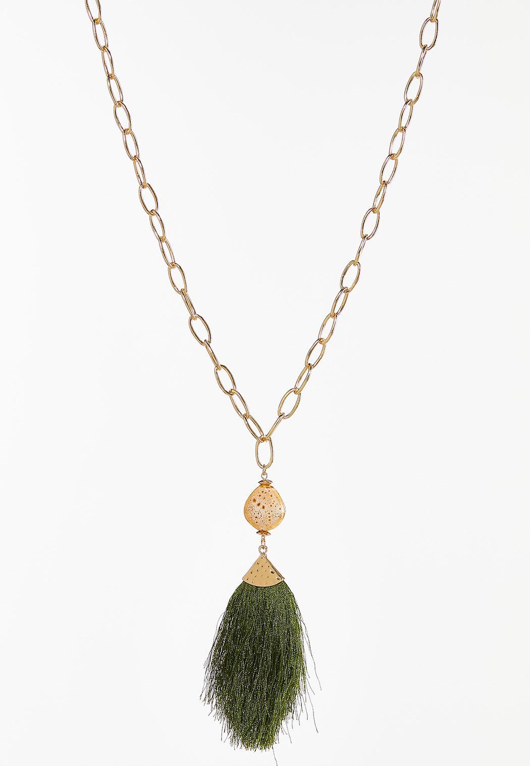 Link Tassel Pendant Necklace