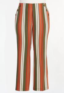 Plus Size Spicy Striped Wide Leg Pants