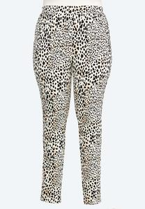 Plus Size Animal Ponte Pants