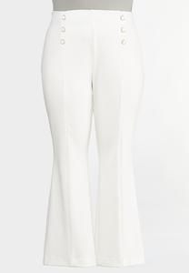 Plus Size Sailor Trouser Pants