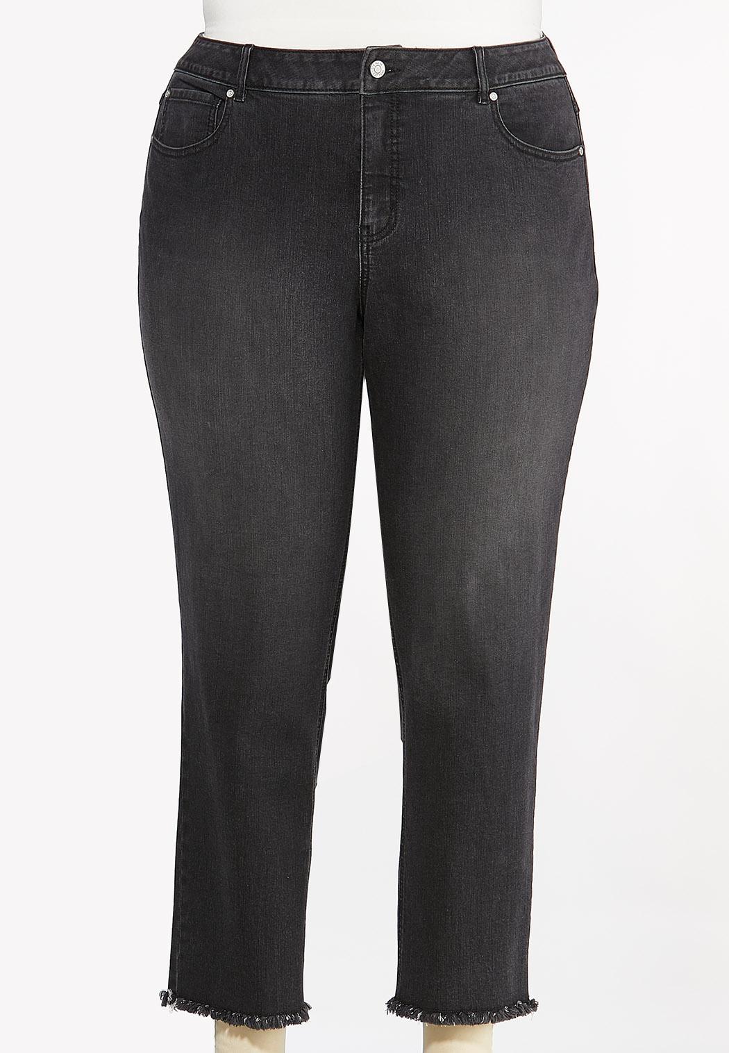 Plus Size Black Skinny Ankle Jeans