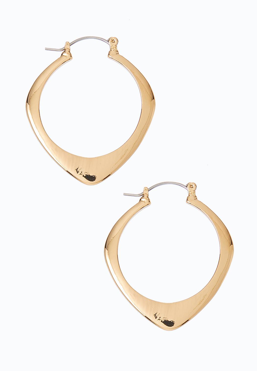 Pointed Gold Hoop Earrings