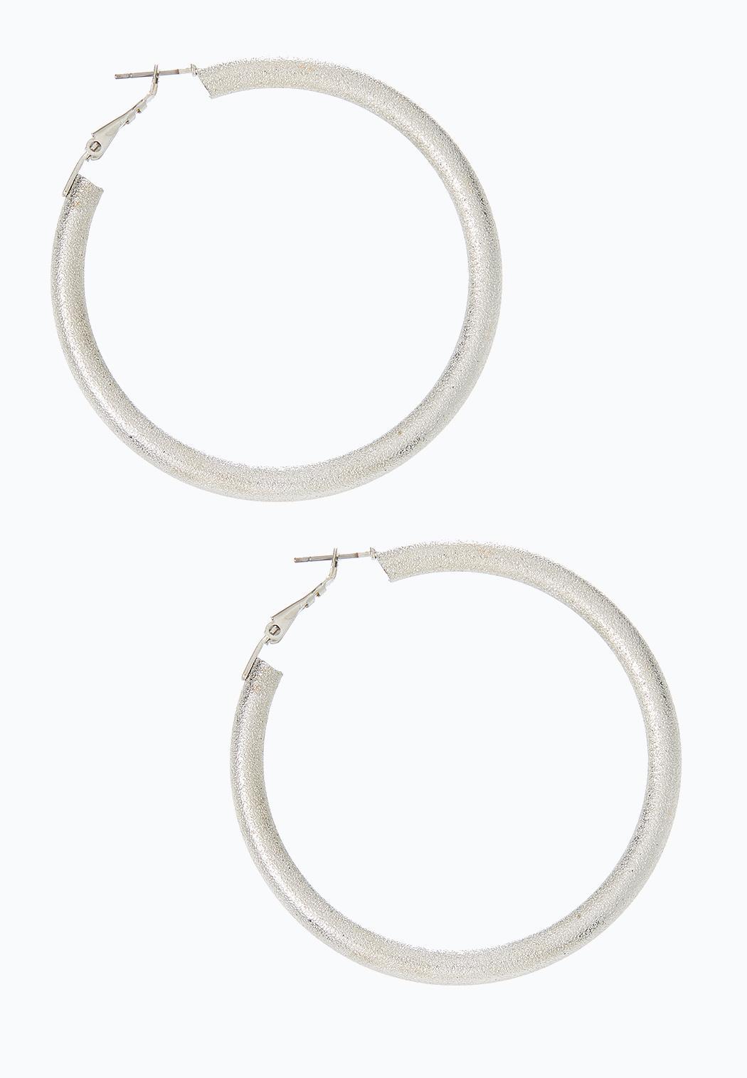Textured Thick Hoop Earrings