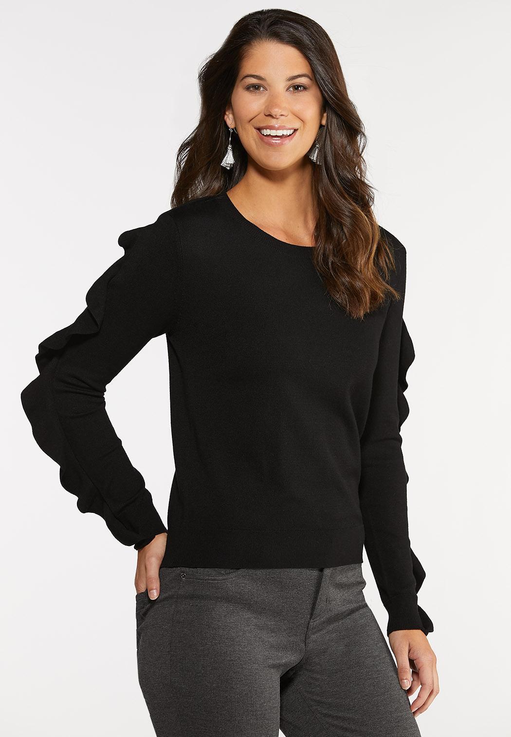 Ruffle Sleeve Sweater