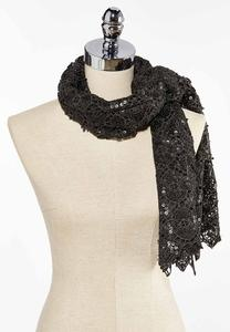 Allover Sequin Scarf