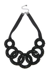 Lobster Clasp Black Bib Necklace