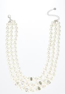 Dazzling Layered Pearl Necklace