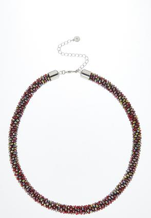 Multi Rondelle Bead Necklace